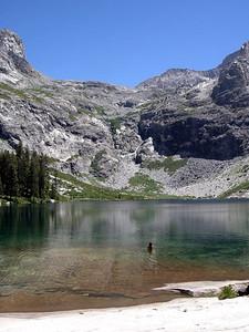 Midday swim break at Hamilton Lake