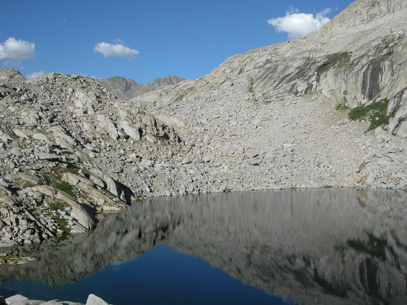 Precipice Lake, looking northeast towards Kaweah Gap