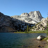 Starting off day 2: Crown Lake to lower Matterhorn Canyon<br /> <br /> <br /> Slide Mountain and Crown Lake by Morning Light