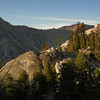 Campsite sunset views