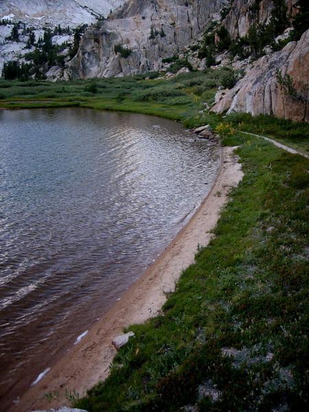 Small beach at Crown Lake