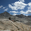 David relaxes at Burro Pass, second pass of the day