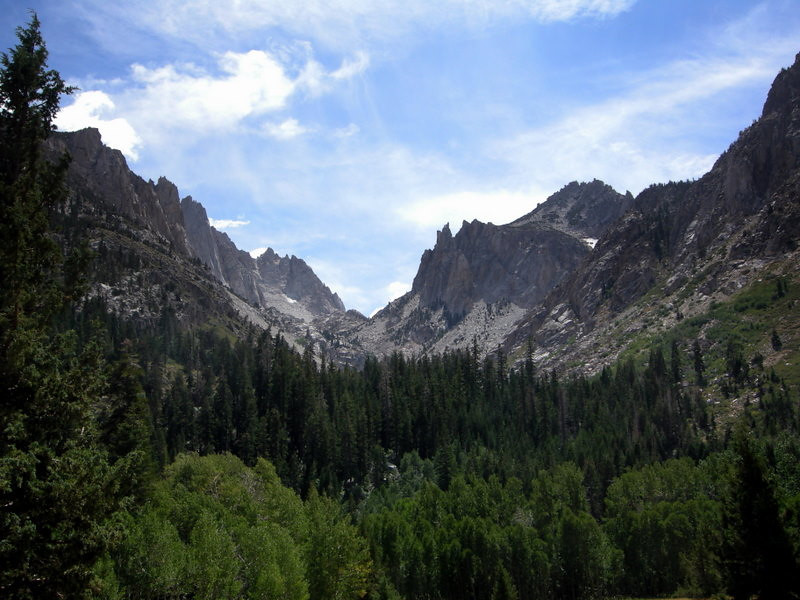 Looking up Little Slide Canyon (Kettle Peak on right)