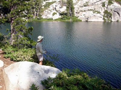 Dave fishes Round Lake