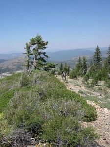Hiking up Grouse Ridge
