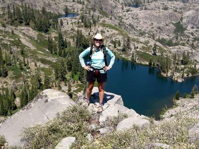 Me near Grouse Ridge  Just one more step backwards....