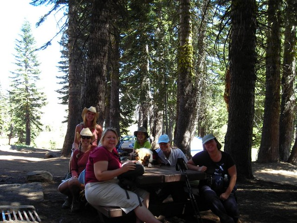 Lunch at the Grouse Ridge campground.
