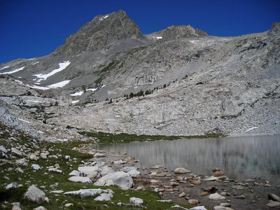 One of the many unnamed lakes east of Muir Pass.