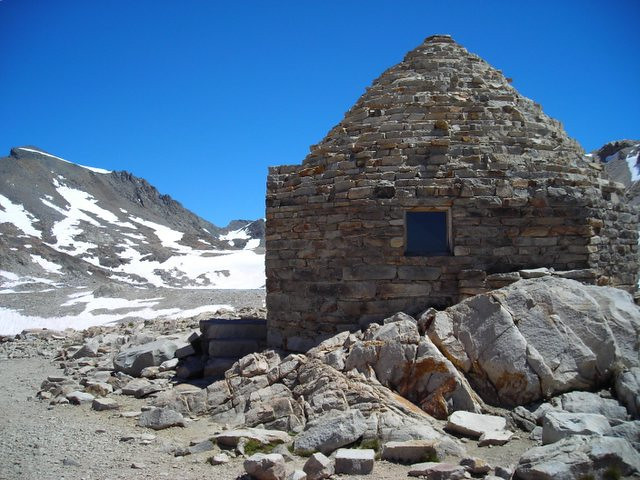 Backside of muir hut