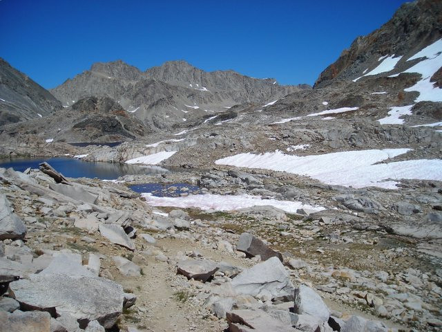 Looking back on Helen Lake.