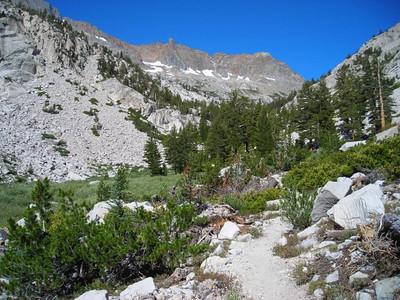 Climbing toward the pass.