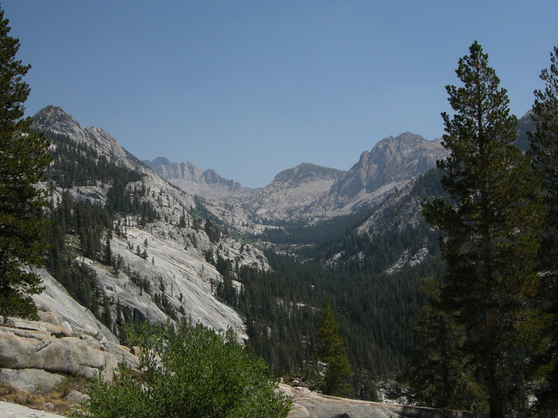 View up the North Fork of Mono Creek