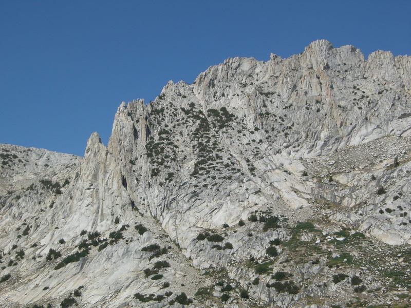Granite behind Silver Pass Lake