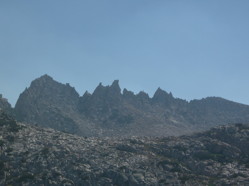Jagged teeth along a sierra ridgeline