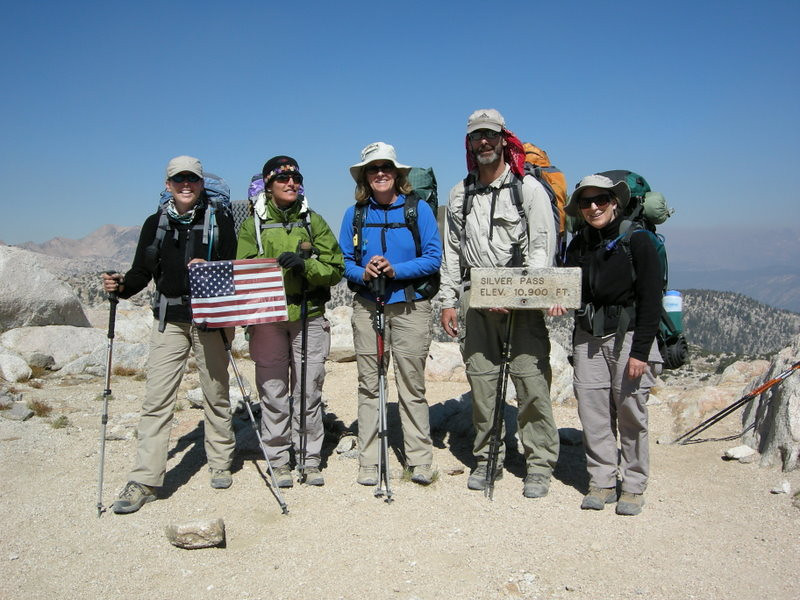 Here we are on Silver Pass<br /> <br /> L to R: Me, Anna Marie, Kerry, Michael, Mary