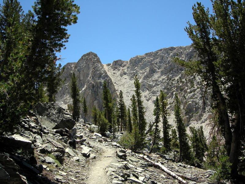 Now it's over the ridge to Virginia Lake