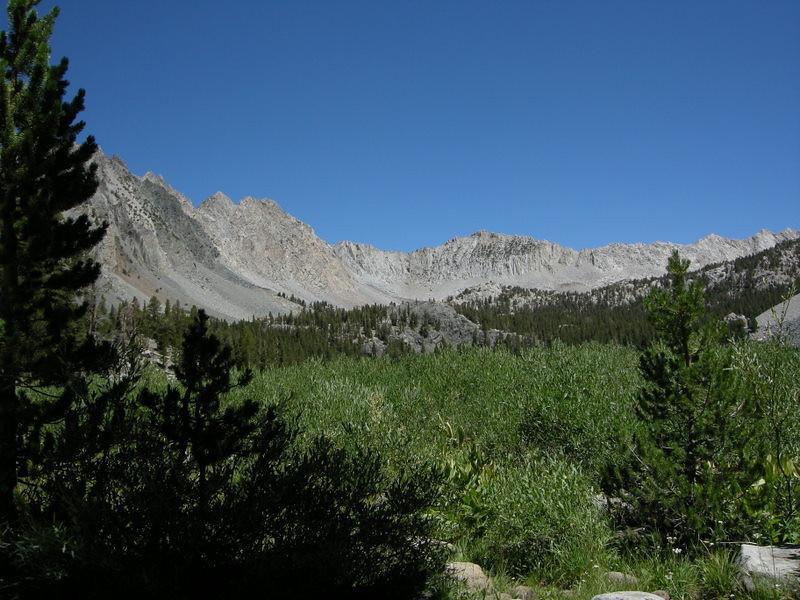 Mountain ridges around Purple Lake