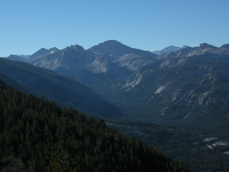 Looking toward Silver Pass<br /> <br /> We will camp in the end of that valley tonight.