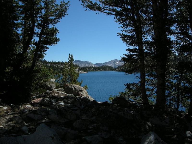 View of Virginia Lake as we leave.