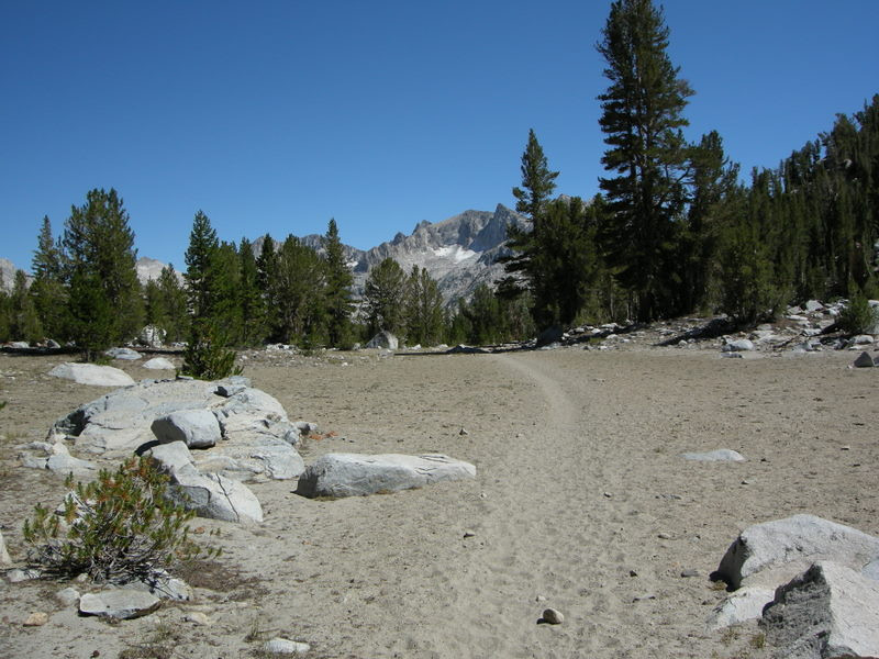 Flat sandy trail