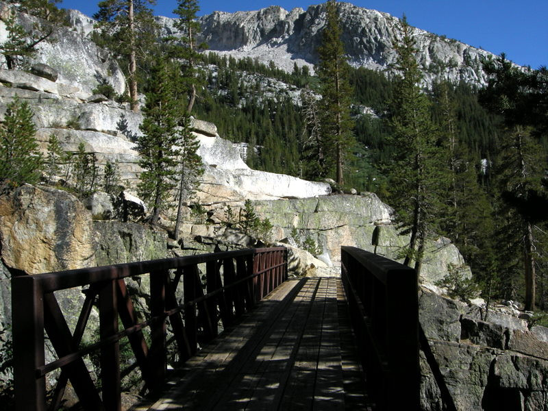 At the cascade valley bridge