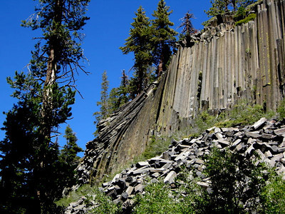 Devil's Postpile  A very awesome columnar basalt formation