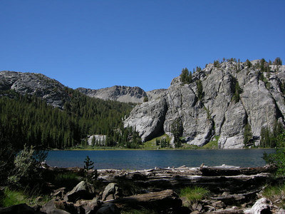 And a short while later I'm at Rosalie Lake, another nice spot.