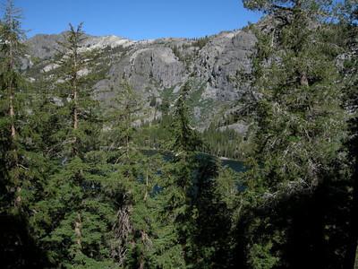 Starting to climb up the ridge south of Shadow Lake