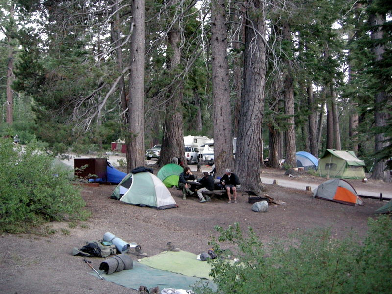 'Backpacker's Camp' at Red's Meadow<br /> <br /> Just three campsites tightly squeezed together in the regular campground - bur right next to the hot spring showers, so it wasn't too bad!