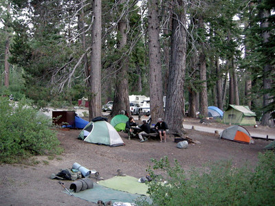 'Backpacker's Camp' at Red's Meadow  Just three campsites tightly squeezed together in the regular campground - bur right next to the hot spring showers, so it wasn't too bad!
