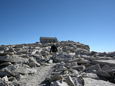 Approaching the Summit Hut