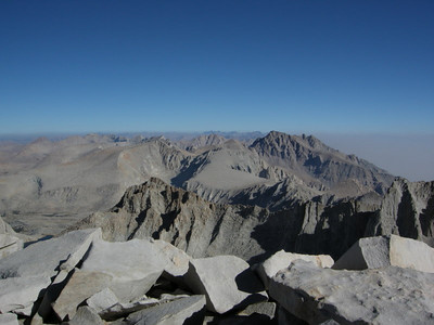 Looking North from the Whitney summit
