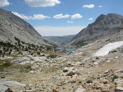 Back at Piute Pass now, this is the view on the other side.