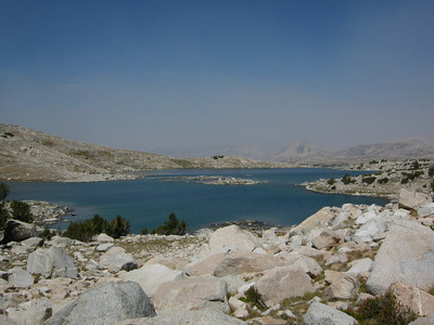Muriel Lake from the 'Hiker's Treasure Chest' cache