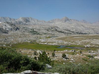 Green Meadows below Piute Pass