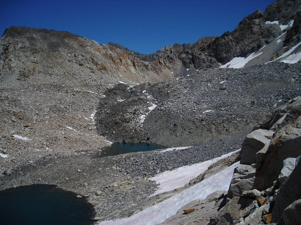 Unnamed lake and the Painted Lady.