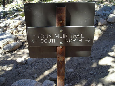 Here it is!  We turn north to head up the John muir Trail and over Glen Pass.