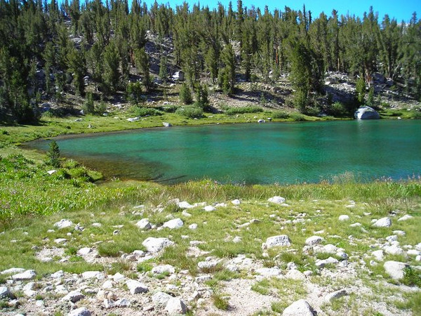 Unnamed lake after Bullfrog Lake