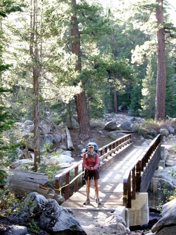 Me on the JMT bridge at Quail Meadow