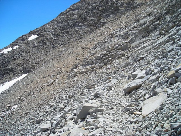 On the Mather Pass switchbacks.