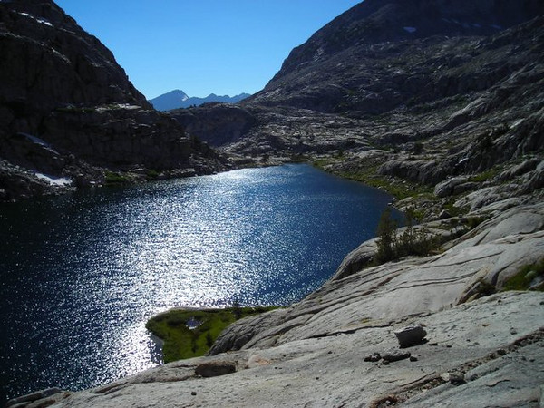 The Lower Palisade Lake<br /> <br /> we plan on camping at the end on the right.