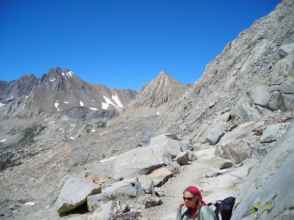 Taylor and views to the northeast from Mather Pass.