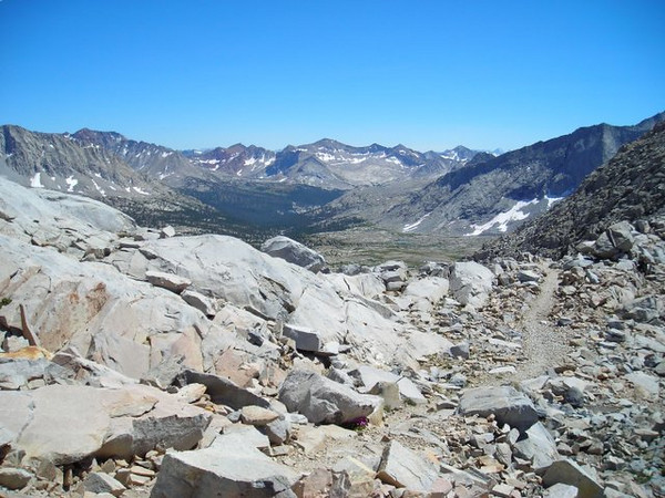 Looking back into Upper Basin from Mather Pass.