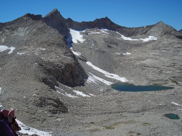Unnamed lakes and peaks north of Mather Pass.
