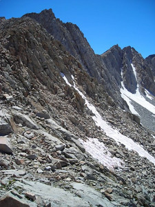 Ridge to the west of Mather Pass.