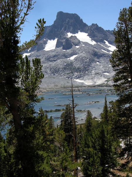 Banner Peak from above Thousand Island Lake