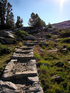 Steps to nowhere....  Actually, they are climbing towards Donohue Pass