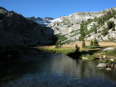 The trail to Donohue Pass goes by some beautiful alpine lakes