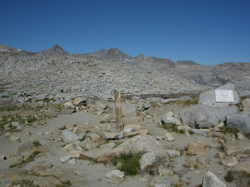 Donohue Pass<br /> <br /> And the boundary between Yosemite and Ansel Adams Wilderness