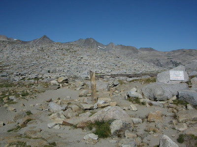 Donohue Pass  And the boundary between Yosemite and Ansel Adams Wilderness